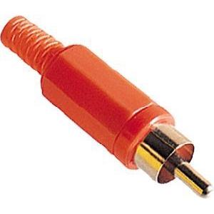 ELIMEX BVBA - RCA mannelijke stekker - Rood - Plastiek - 10 stuks