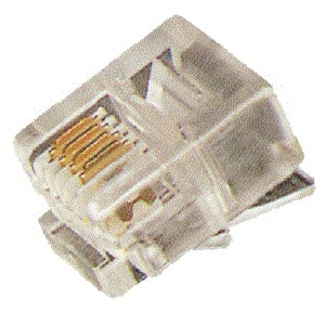 ELIMEX BVBA - Mannelijke RJ14 6/4 krimp telefoonstekkers