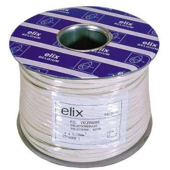 ELIMEX BVBA - Telefoon vlakkabel - 4 x 0,08mm² - ECA - CPR - Ivory