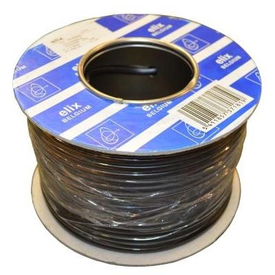 ELIMEX BVBA - Câble téléphonique plat - 4 x 0,08mm² - ECA - CPR - Noir - 1m