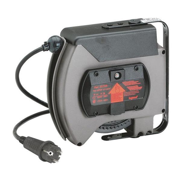LEGRAND - Automatische kabelhaspel 2P+A 3000W 230V IP44 + thermisch beveiliging