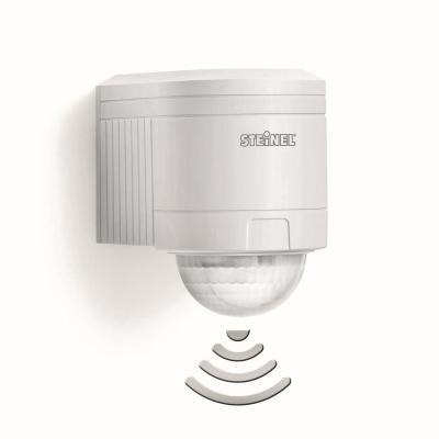 Steinel - Détecteur de mouvement, angle de régistration 240°, portée 12m, IP54, blanc