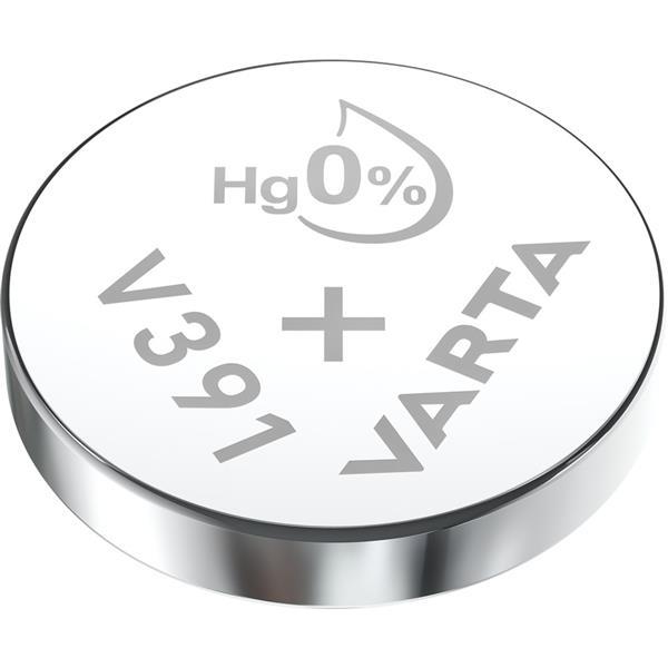 VARTA - Watch piles pour montres SR55 V391 argent 1,55volt 40mAh blister1