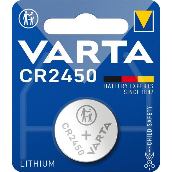 VARTA - ELECTRONICS piles boutons CR2450 Lithium 3volt 560mAh blister1