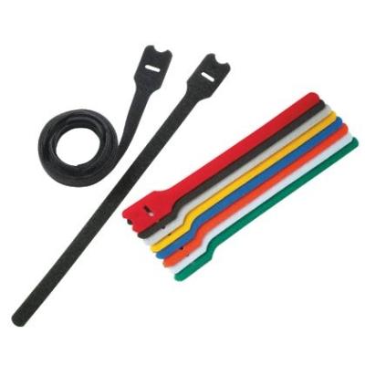 PANDUIT - Kabelband met strip TAK-TY - 203x12,7mm, velcro, nylon/polyethyleen, zwart
