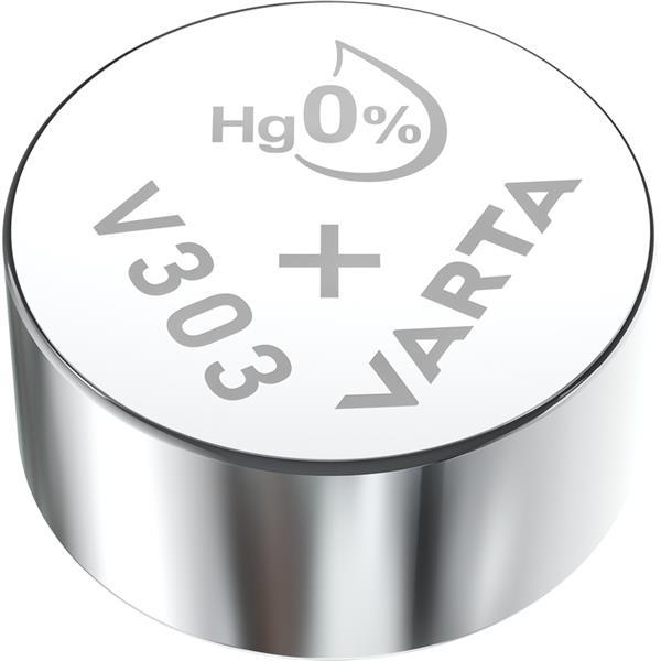 VARTA - Watch piles pour montres SR44 V303 argent 1,55volt 170mAh blister1