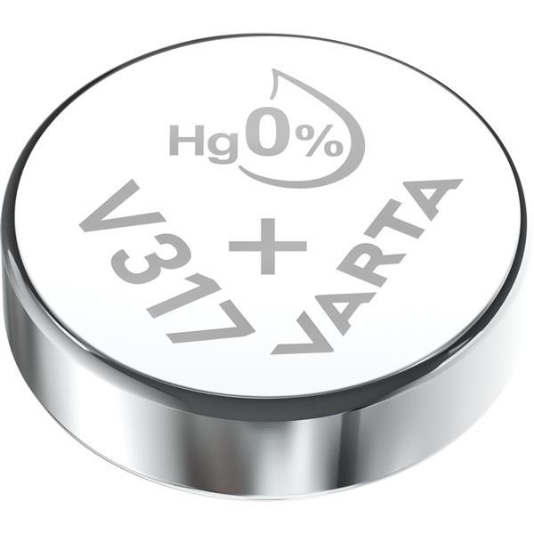 VARTA - Watch piles pour montres SR62 V317 argent 1,55volt 8mAh blister1