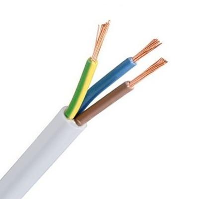 CABLEBEL - VTLB H03VV-F verbindingskabel PVC flexibel 300V wit 3G0,75mm²