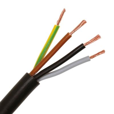CABLEBEL - H05VV-F VTMB verbindingskabel PVC flexibel gladde mantel 500V zwart 4G1,5mm²