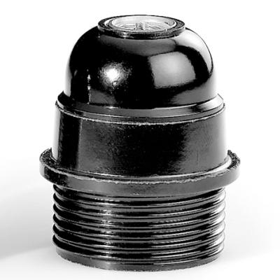 HUPPERTZ - Socket bakelite demi-filetage E27 noir