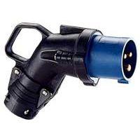 LEGRAND - Haakse contactstop 200V 16A 2P+A Hypra - IP44 - IK 09 - rubber
