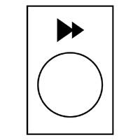 TELEMECANIQUE - Étiquette - 30 x 40mm - blanc - montée ou droite, PV-GV