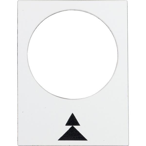 TELEMECANIQUE - Étiquette - 30 x 40mm - blanc - droite PV-GV