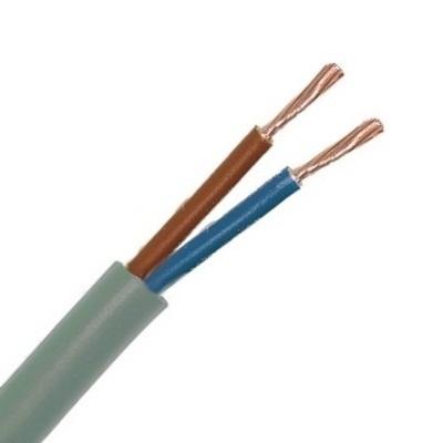 CABLEBEL - H05VV-F VTMB câble de raccordement PVC souple gaine lisse 500V gris 2X1mm²