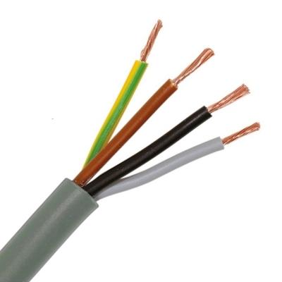 CABLEBEL - H05VV-F VTMB verbindingskabel PVC flexibel gladde mantel 500V grijs 4G1,5mm²