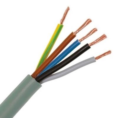 CABLEBEL - H05VV-F VTMB verbindingskabel PVC flexibel gladde mantel 500V grijs 5G2,5mm²