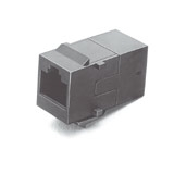 Tyco-AMP - RJ-45 Coupler (8 pos.), Cable Exit: straight (180°)
