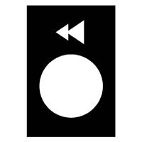 TELEMECANIQUE - Étiquette - 30 x 40mm - noir - gauche ou descente, PV-GV