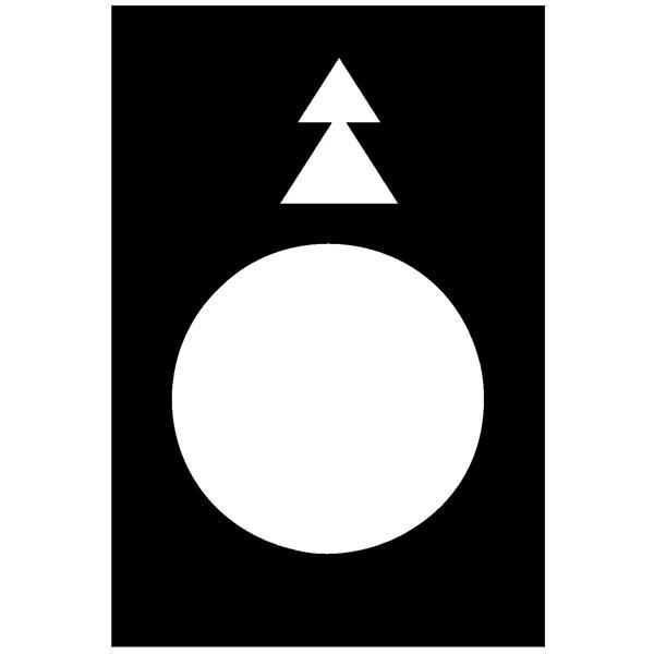 TELEMECANIQUE - Étiquette - 30 x 40mm - noir - gauche PV-GV