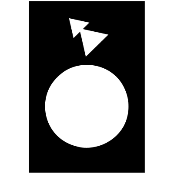 TELEMECANIQUE - Etiket - 30 x 40mm - zwart - achteruit LS-HS