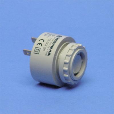 Werma - El. zoemer 230 VAC - 2400 Hz, 43 x 48 mm continue toon, 90 dB  (met kap 80 dB)
