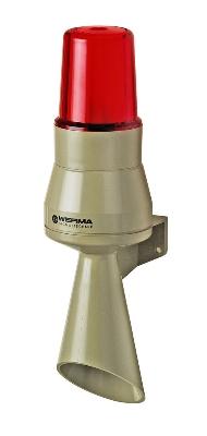 Werma - Hoorn met signaallamp rood 230VAC