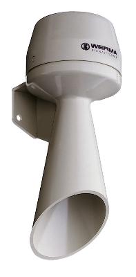 Werma - Signaalhoorn WM continue 24VDC grijs