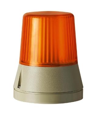 Werma - feu flash 230 VAC - orange, fréq. de flash : ca 1 Hz,   IP54, 108 x 133 mm-70 m