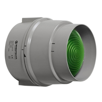Werma - Lumière perm. 12-240VAC/DC, vert -douille : E27 max. 25W,   IP 65, 150 x 147 mm
