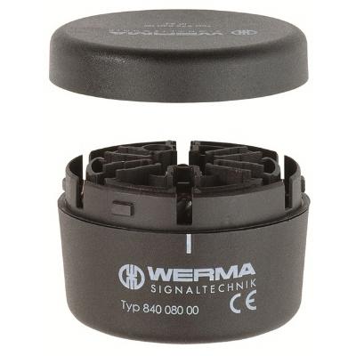 Werma - Eindelement voor buis-, bevestiging met kap