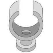 PGL - Klembeugel nylon wit 1 x 18
