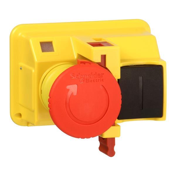 TELEMECANIQUE - Kop voor drukknop Ø40 draaien om te ontgrendelen Ø22 rood zonder markering