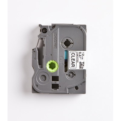 BROTHER - Cassette 12mm zwart-transparant