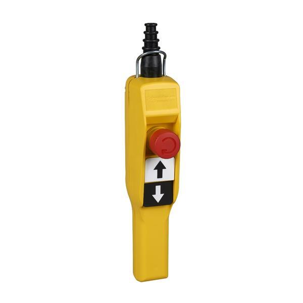 TELEMECANIQUE - hangende drukknopkast XAC-A pistol grip - 2 drukknoppen - 1 noodstop