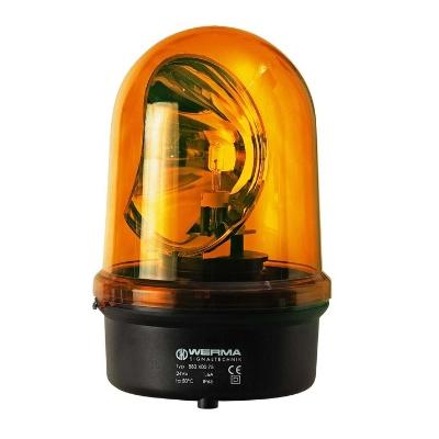 Werma - Gyrop. 230VAC/0.17A, incl. lam. Hal. GY 6.35 35W 12V/24V, IP65, 142x216 mm