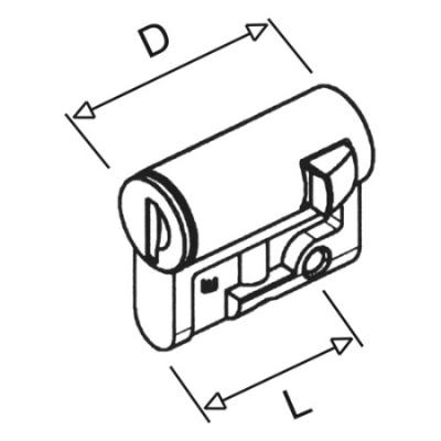 VYNCKIER - Serrure semi-cylindrique 2 clés V2432E