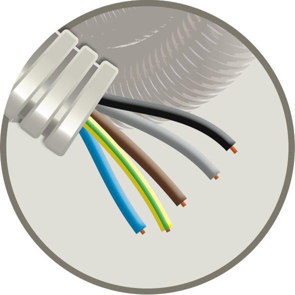 CABLEBEL - Elflex tube précâblé 16mm + installation VOB 5G1,5mm²