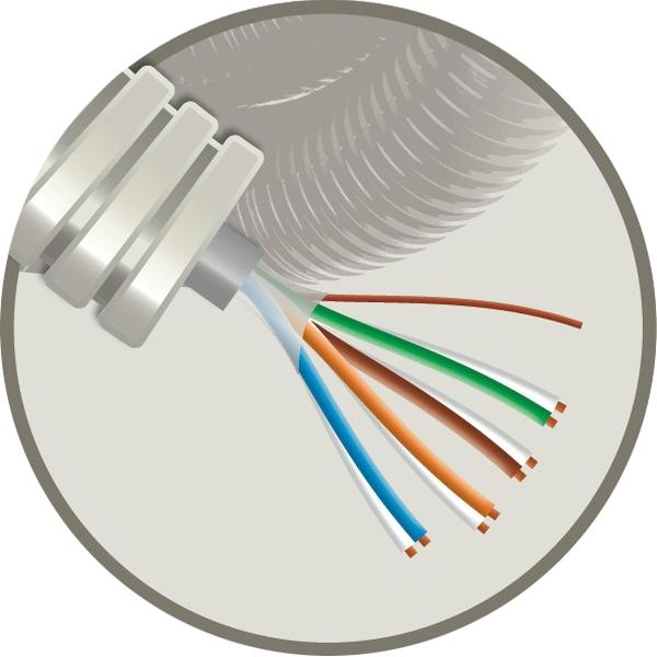 CABLEBEL - Elflex tube précâblé 16mm + câble de téléphonie VVT 4X2X0,6mm