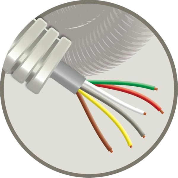 CABLEBEL - Elflex tube précâblé 16mm + câble de téléphonie SVV gris 6X0,8mm