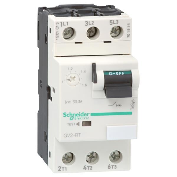TELEMECANIQUE - disjoncteur moteur GV2-RT - 0,25..0,4 A - 3P 3d - déclencheur magnéto-thermique