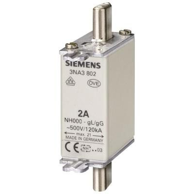 SIEMENS - Meszekering NH GR000 AC 500V/DC 250V 80A met niet-geÏsoleerde trekkers