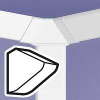 LEGRAND - Einddeksel links/rechts DLP 3D kabelgoot 80 x 80 mm - wit