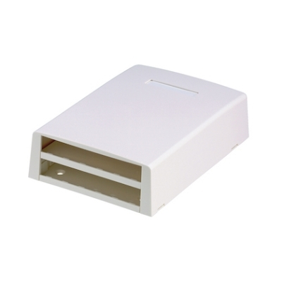 PANDUIT - boîtier apparent, 12 positions, blanc, dim. HxlxL = 45,8mm x 119,4mm x 169,2mm