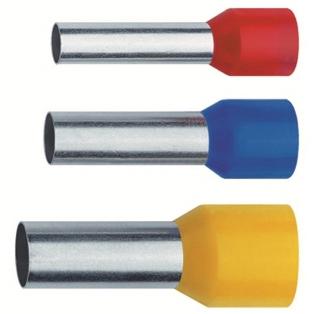 NUSSBAUMER - Douille terminale isolée code couleur DIN 2,5mm² 8mm cuivre