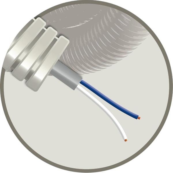 CABLEBEL - Elflex tube précâblé 16mm + câble de téléphonie SVV gris 2x0,8mm