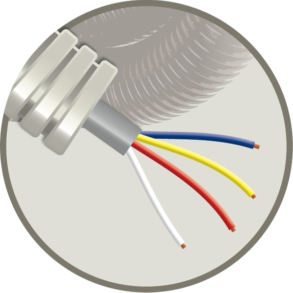 CABLEBEL - Elflex tube précâblé 16mm + câble de téléphonie SVV gris 4x0,8mm