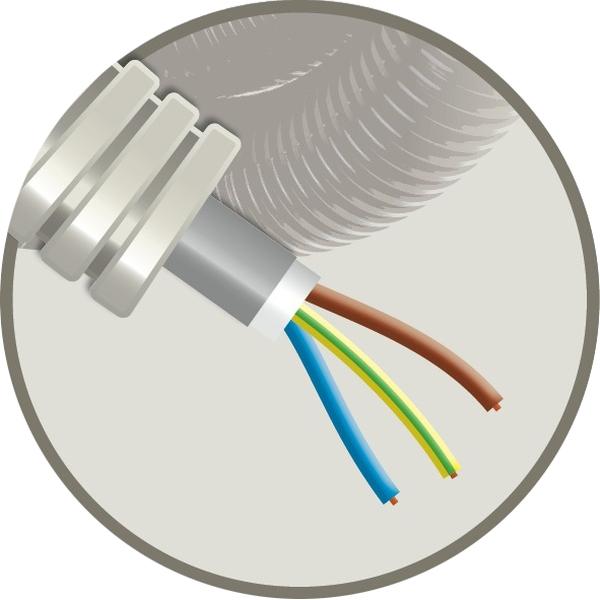 CABLEBEL - Elflex voorbedrade buis 20mm + installatiekabel XVB 3G2,5mm²