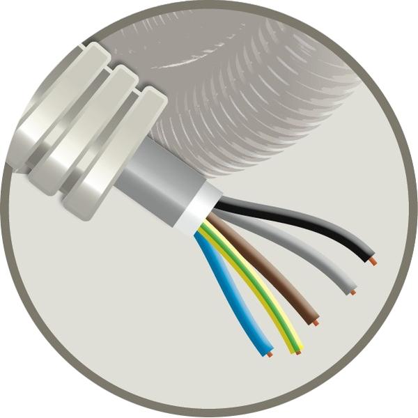 CABLEBEL - Elflex tube précâblé 20mm + câble d'installation XVB 5G1,5mm²
