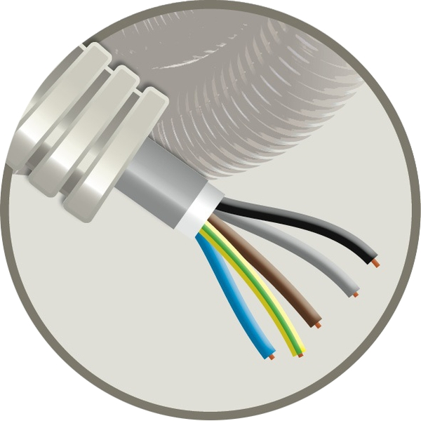 CABLEBEL - Elflex tube précâblé 20mm + câble d'installation XVB 5G2,5mm²