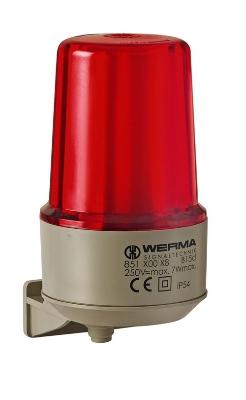 Werma - Permanente lamp WM 12-240VAC/DC rood